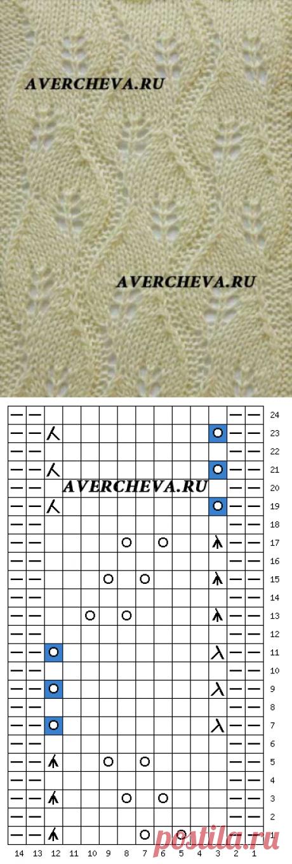 Узор спицами 1016   каталог вязаных спицами узоров