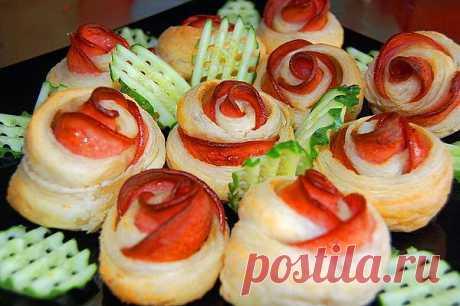 Горячие бутерброды Розочка - Простые рецепты Овкусе.ру