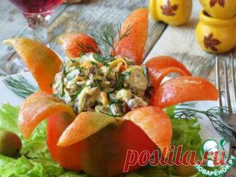 Салат из сердца в болгарском перце