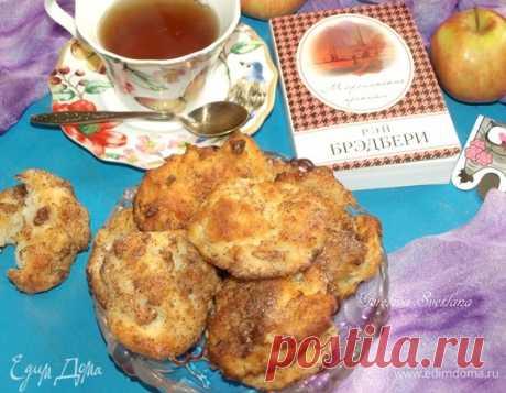 Творожное печенье с яблоками и корицей. Ингредиенты: творог 2%, яйца куриные, мука