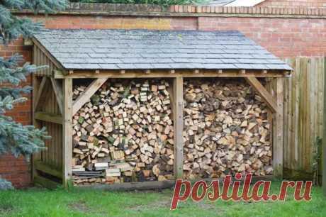 Где и как хранить дрова на даче - Квартира, дом, дача - медиаплатформа МирТесен