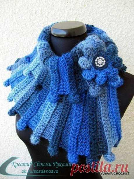 Оригинальные шарфы — идеи для творчества