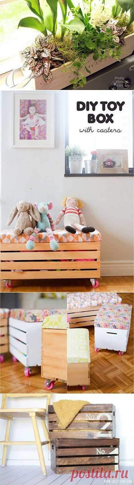 Мебель для быта из деревянных ящиков / Я - суперпупер