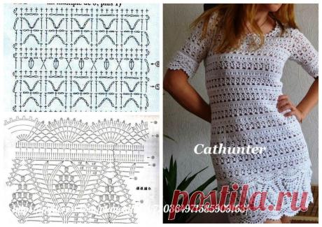 платья и сарафаны крючком + схемы | Что умею, тем делюсь! | Яндекс Дзен
