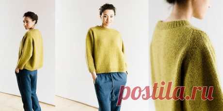 Пуловер оверсайз спицами Cline Женский пуловер оверсайз спицами Cline с рукавом доломан. Еще одна модель оверсайза в коллекцию любимых пуловеров с описанием и выкройкой от Джули Хувер.