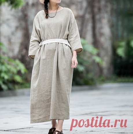 Women Linen maxi dress plus size dress party dress Kaftan | Etsy