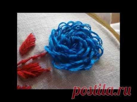 Hand Embroidery Chamanti Flower Stitch by Amma Arts