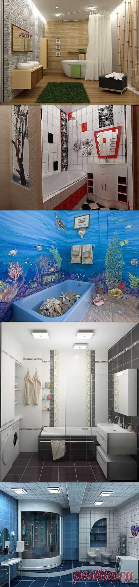 Идеи дизайна ванной комнаты с примерами сантехники..