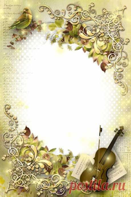 Рамки для открыток музыкальных, годовщиной свадьбы лет