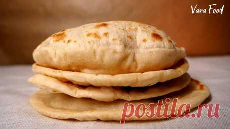 Пита без дрожжей на сковороде. Хлебная лепешка с кармашком | VanaFood | Яндекс Дзен