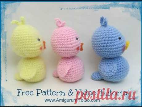 How To Crochet A Duck Body & Tail - YouTube