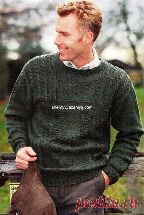 Man's pullover from different patterns