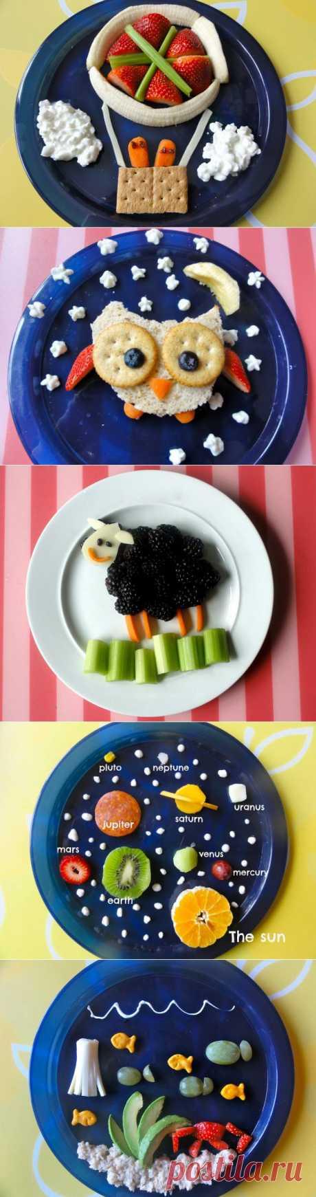 (+1) сообщ - 7 способов красиво оформить блюдо и вкусно накормить ребенка | ВКУСНО ПОЕДИМ!