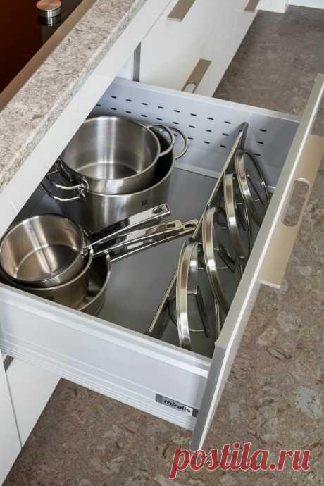 Хранение крышек от кастрюль: простые и удобные способы | Организация пространства | Яндекс Дзен