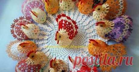 Вязаный пасхальный декор: красивые праздничные идеи… - Домоводство - медиаплатформа МирТесен