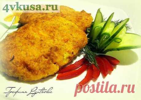 Куриные отбивные в морковной панировке | 4vkusa.ru