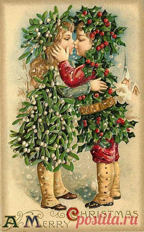 Шикарные винтажные открытки. Новогодние