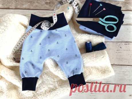 Выкройка трикотажных штанов детских р.50-116 #выкройки #мастер_класс #шитье #малышей