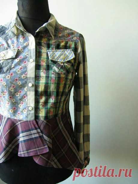 Блузка из кусочков