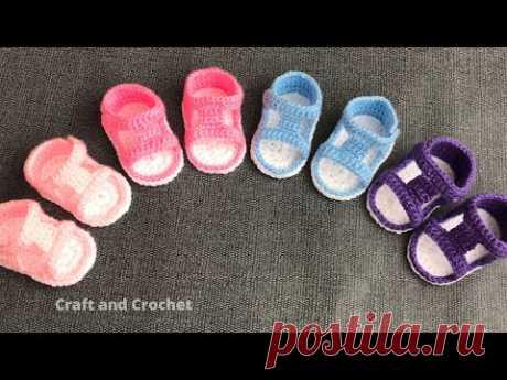 Детские сандалии, связанные крючком, легкие вязаные крючком туфли, вязаные крючком сандалии