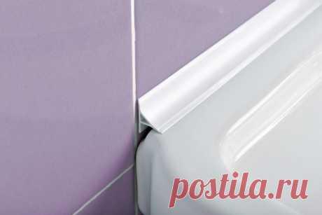 Чем эстетично заменить пластиковый плинтус в ванной