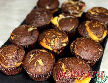 Шоколадно-творожные маффины – кулинарный рецепт