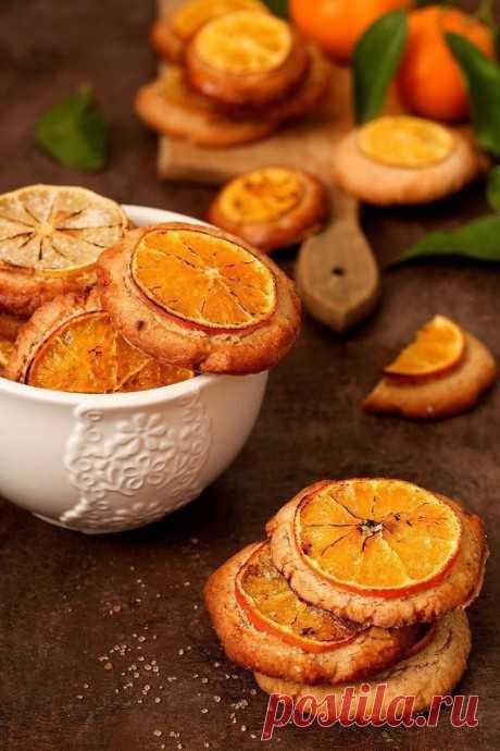 Миндальное печенье с мандаринами