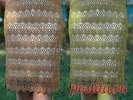 Вязание крючком - Узоры крючком - Узор для юбки или платья