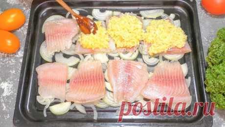 Рыбка под шубкой! Сразу с гарниром! Вкусное БЛЮДО!