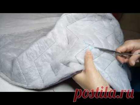 Как сшить пальто из стеганой ткани с утеплителем без выкройки. Часть 2 / ОБРАБОТКА КАРМАНА