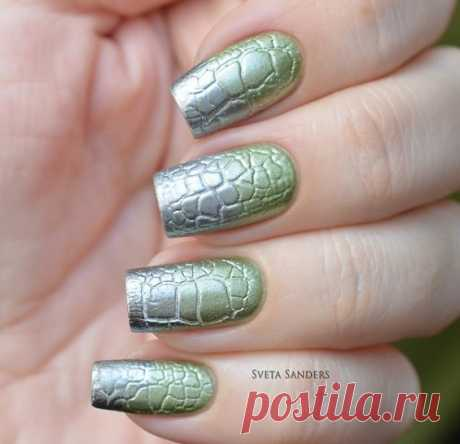 """Manicure of Snake Skin or \""""snakeskin\"""" — 11 impudent ideas on all cases"""