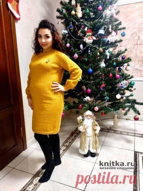Платье спицами для беременных Мандаринка. Работа Анаит, Вязание для женщин