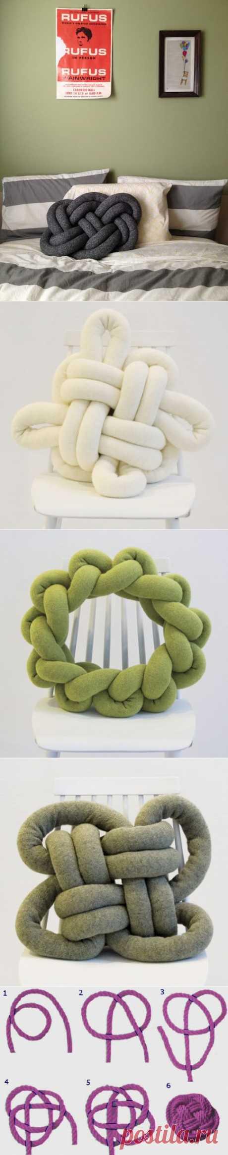 (+1) тема - Декоративная подушка-узел: сделать проще, чем кажется | РУКОДЕЛИЕ