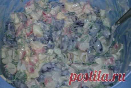 Быстрый салат с фасолью и крабовыми палочками рецепт – европейская кухня: салаты. «Еда»