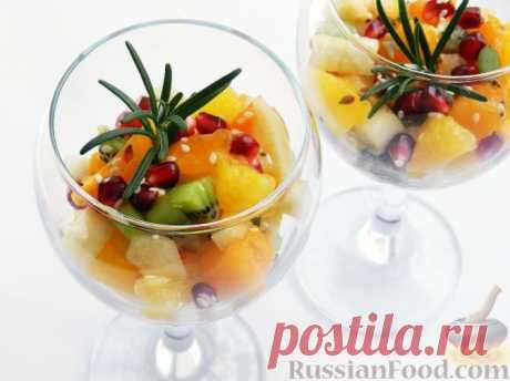 Рецепт: Салат фруктовый с хурмой