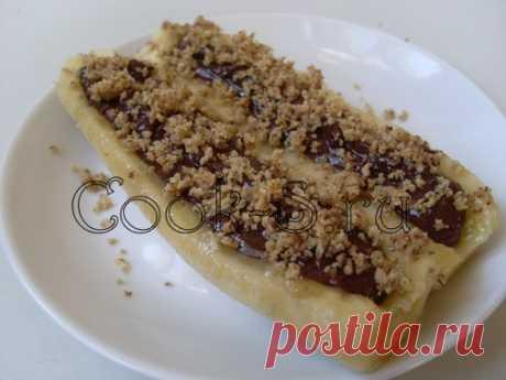 Бананы, фаршированные шоколадом и орехами - Пошаговый рецепт с фото | Десерты