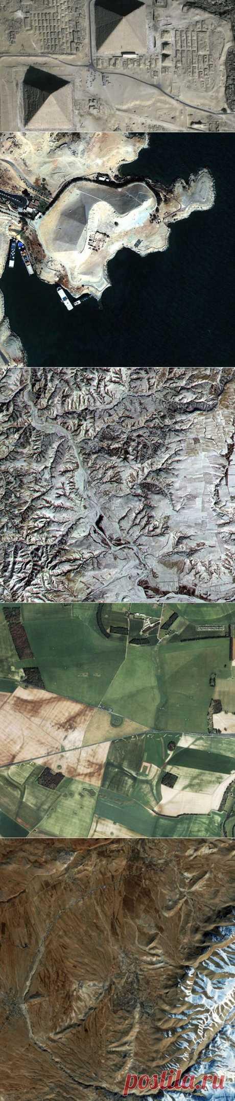 Как выглядят древние руины из космоса   НАУКА И ЖИЗНЬ