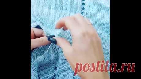 Сшиваем по открытым петлям