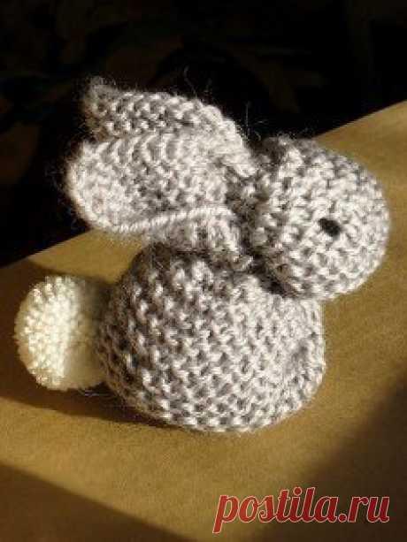 Заяц из вязаного квадрата / Необычная коробка