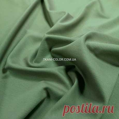 Трикотаж джерси оливковый: купить в Украине оптом и в розницу. одежные ткани - магазин ткани Color