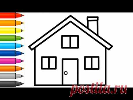 Coloring - How to draw house