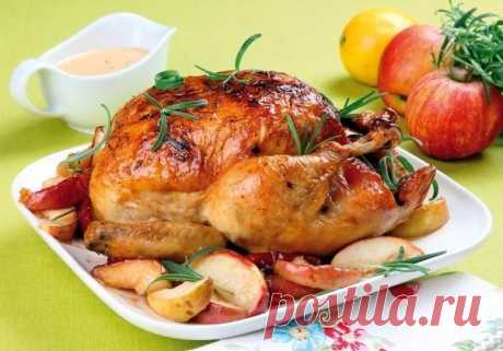 Как приготовить курица с яблоками в сливочном соусе - рецепт, ингредиенты и фотографии