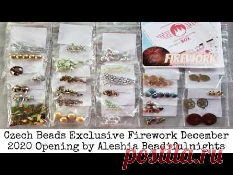 Czech Beads Exclusive Firework December 2020 Box Opening