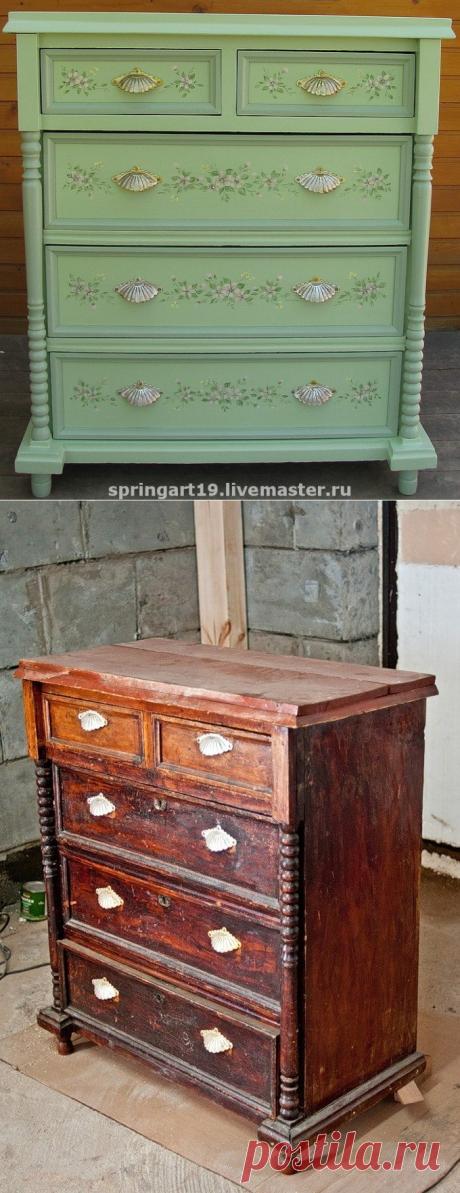 Реставрация и роспись комода