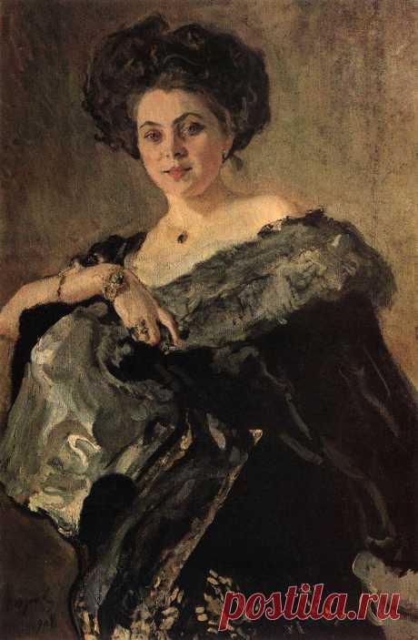 Портрет Е.С.Морозовой. 1908      Валентин Александрович Серов (1865-1911). Часть 1: vakin