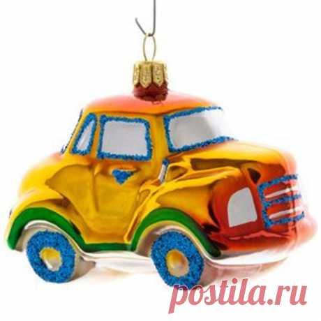Vintage Glass Christmas Ornament Retro Car New Year Christmas | Etsy