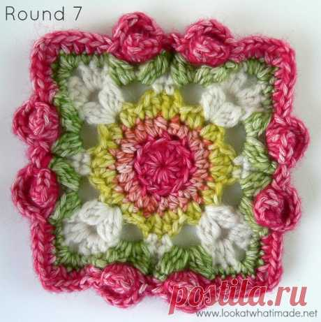 Dedri's Rose Garden Square - by Penny Davis ⋆ Look At What I Made