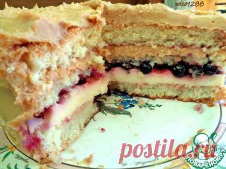 Торт с черной смородиной – кулинарный рецепт