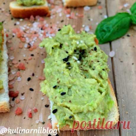 Паста из авокадо для бутербродов | Кулинарный блог