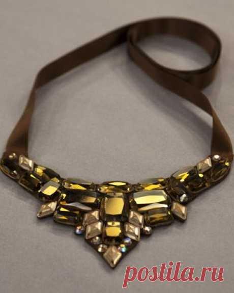 Ожерелье из камней своими руками мастер класс